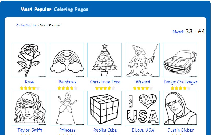 coloring page website