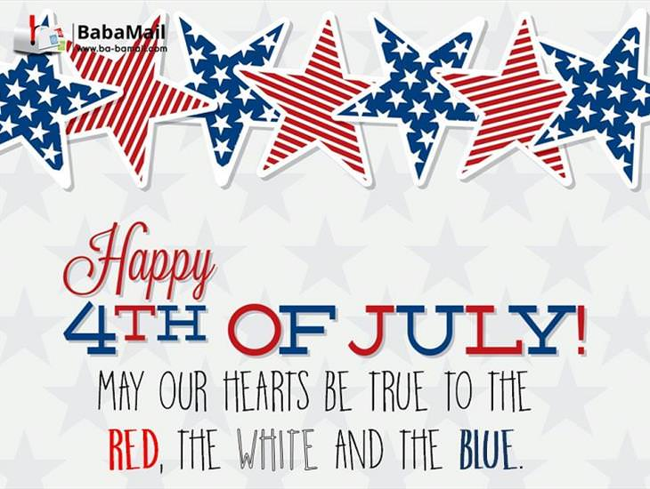 May Our Hearts Be True to the Red, White and Blue