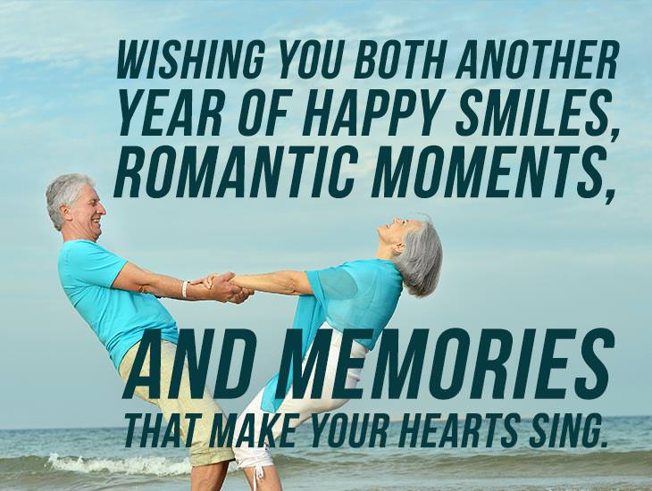 Wishing You More Memories That Make Your Hearts Sing.