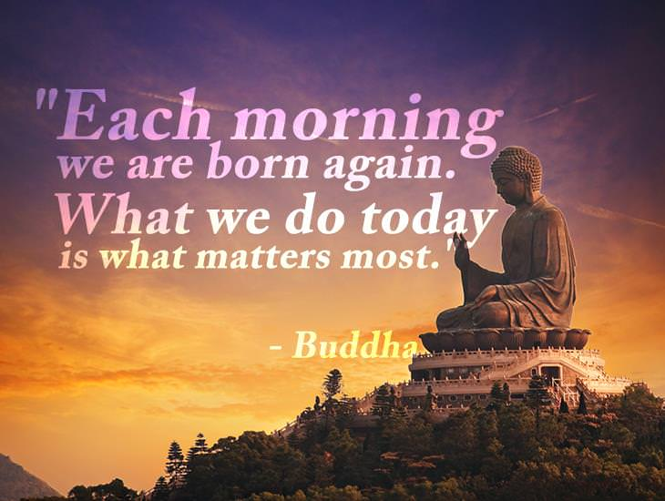 Each Morning We Are Born Again.
