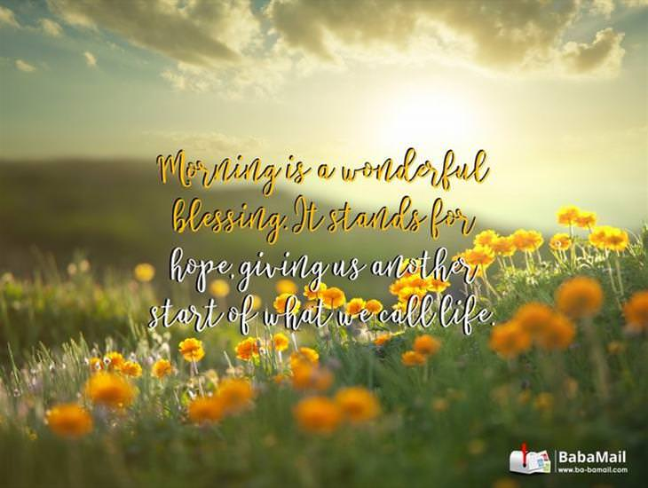 Morning is a Wonderful Blessing