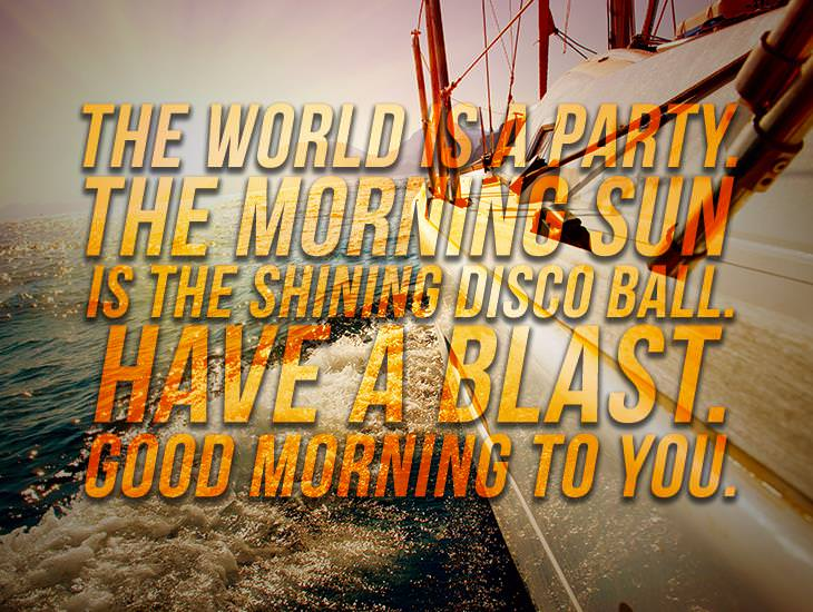 The Morning Sun Is A Shining Disco Ball! Good Morning!