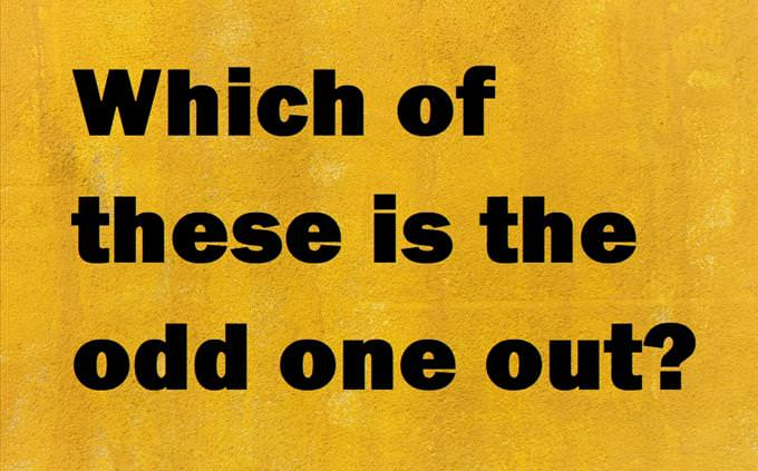 odd one out quiz