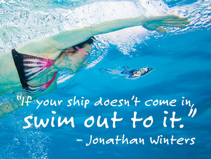Don't Wait For The Boat, Swim Out To It!