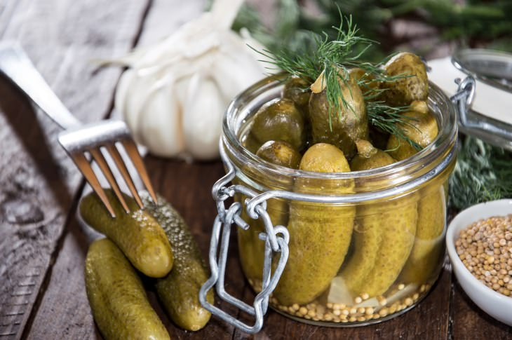 Pickle Juice in jars