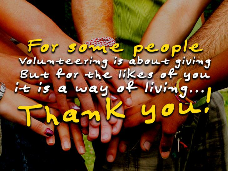 Thank you! For Volunteering!