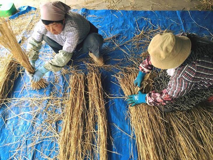 rice straw art