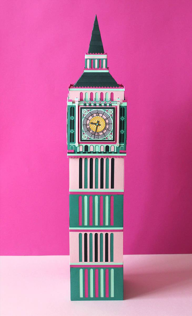paper art of London