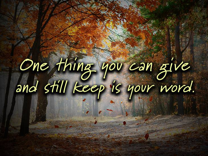 The One Thing You Can Give And Still Keep