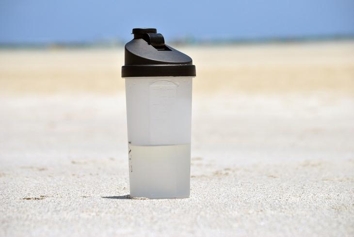 a plastic sports drink water bottle