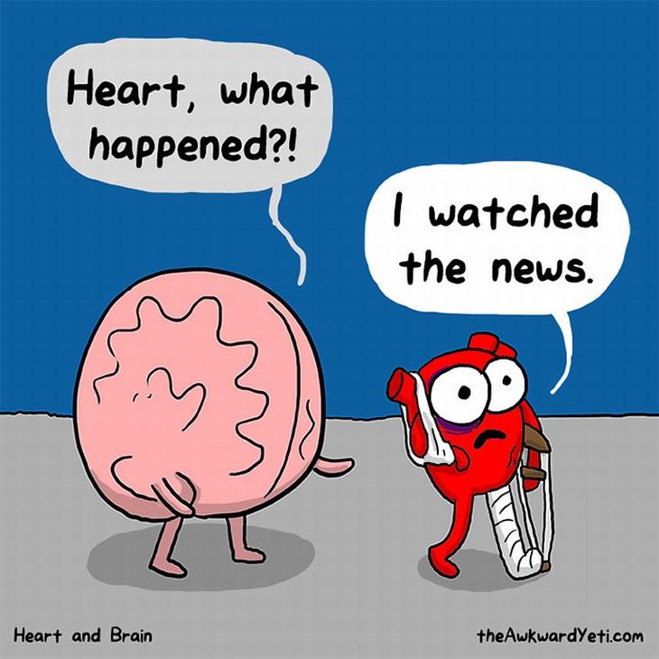 Heart versus the Brain Comics