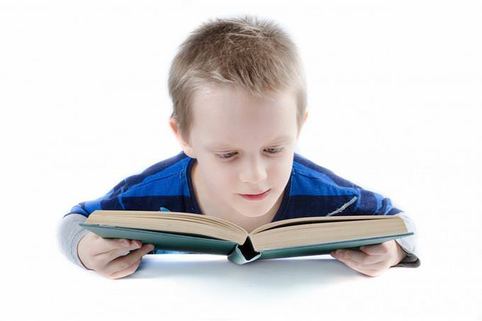 A child reading a book