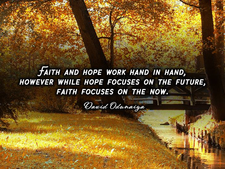 Faith and Hope Work Hand in Hand