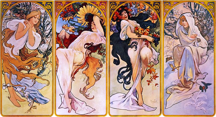 Four Seasons 1 Alphonse Mucha