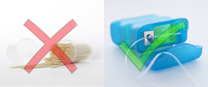 toothpicks and floss