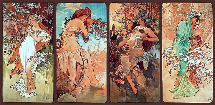 Four Seasons Alphonse Mucha