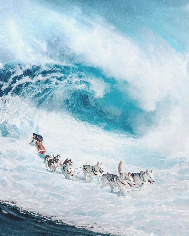 Zulkarnain Ismail surfing