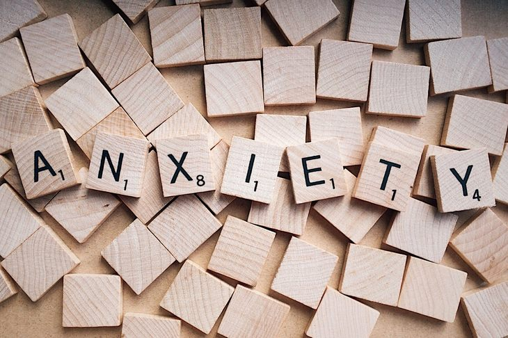 anxiety lettering wood
