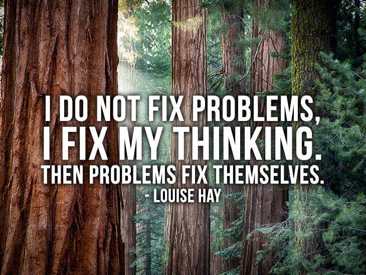 I Do Not Fix Problems, I Fix My Thinking.
