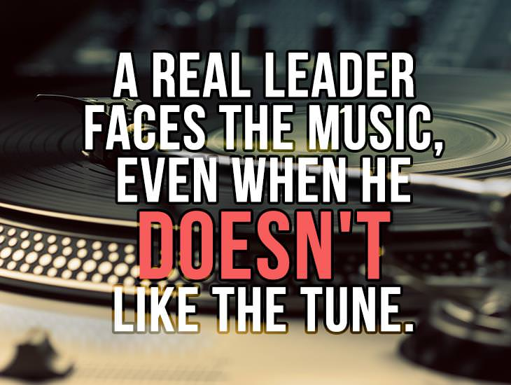 A Real Leader Faces The Music