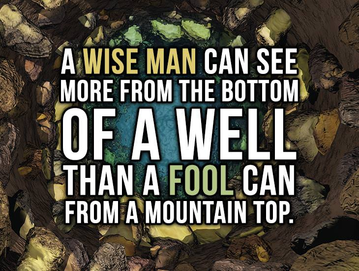 A Wise Man Can See More Than The Fool