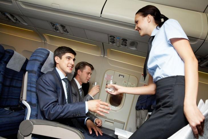 joke: man gets drink from air stewardess