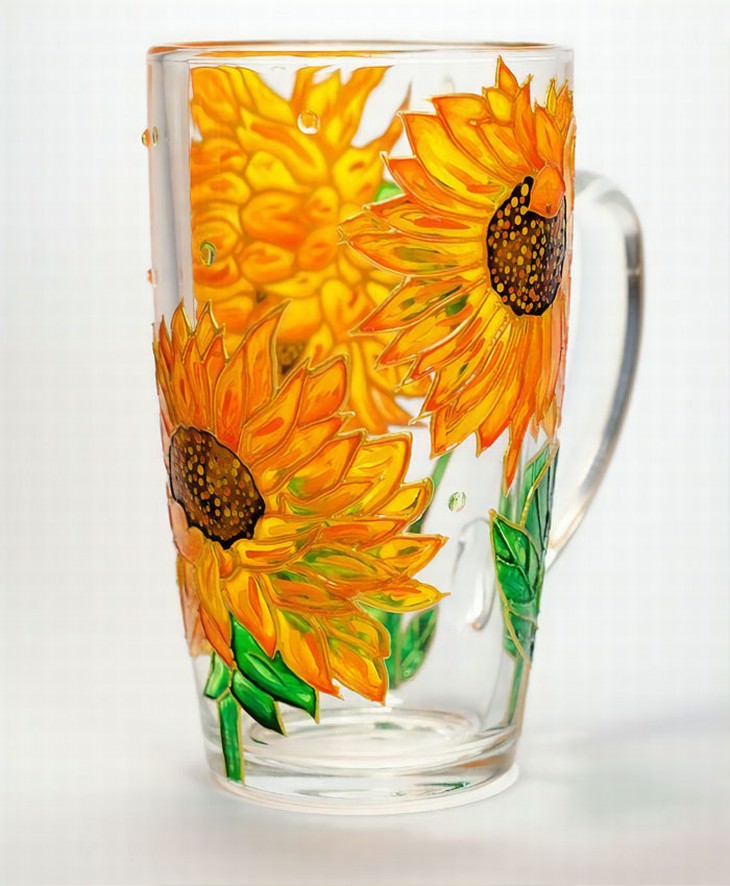 Vitraaze glassware hand painted art