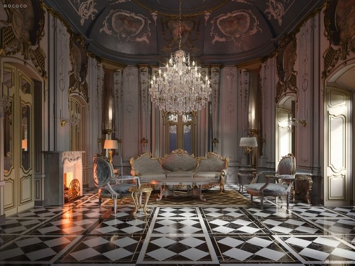 500 Years of Living Room Design Home Advisor Rococo
