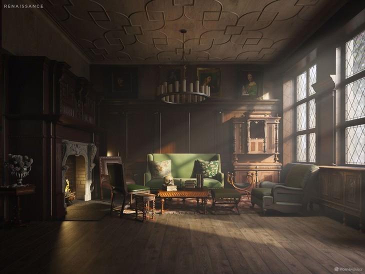 500 Years of Living Room Design Home Advisor Renaissance