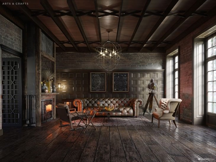 500 Years of Living Room Design Home Advisor Arts and Crafts