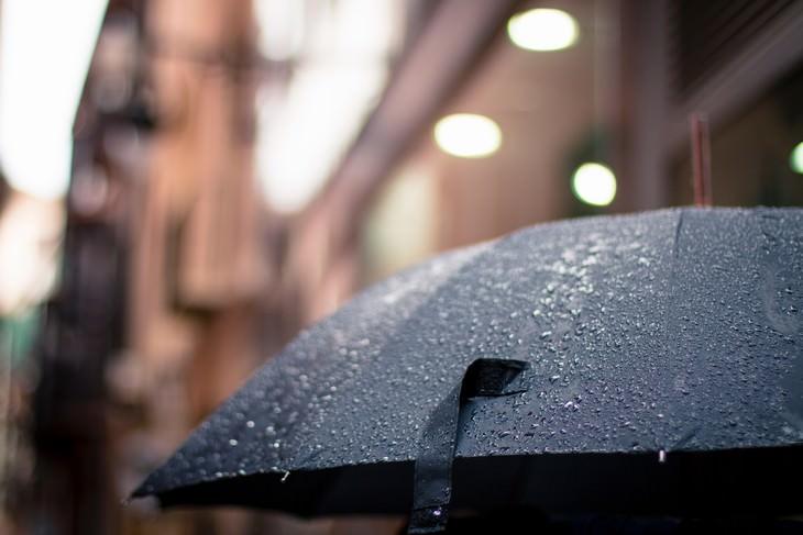 Migraines and Weather wet black umbrella