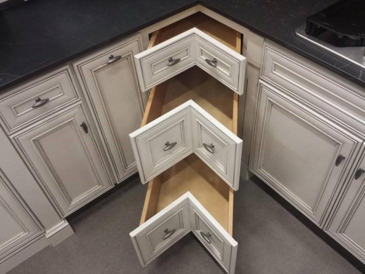 useful design innovations  corner shelves