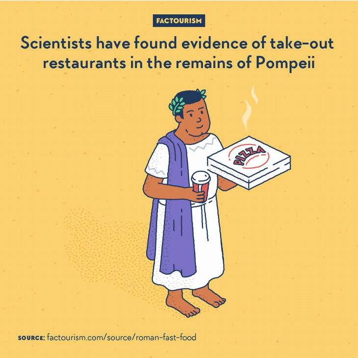 Factourism illustrations take out restaurants
