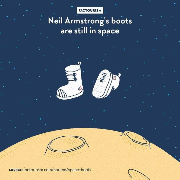 Factourism illustrations neil armstrong's boots