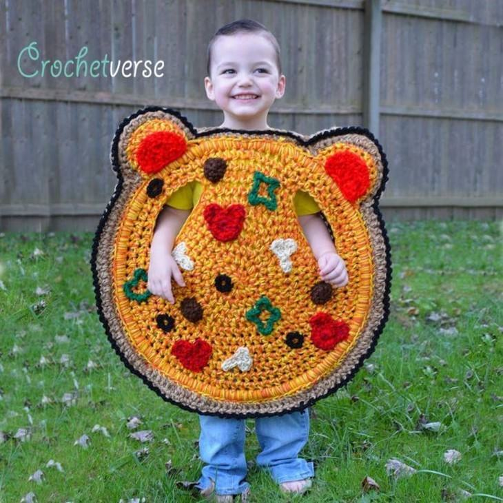 crochet Halloween Costumes for Kids Stephanie Pokorny pizza bear