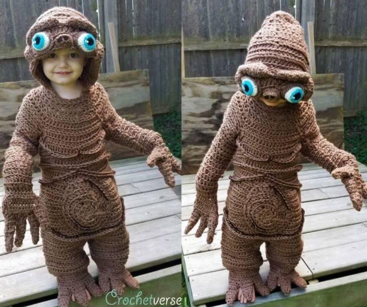 crochet Halloween Costumes for Kids Stephanie Pokorny alien
