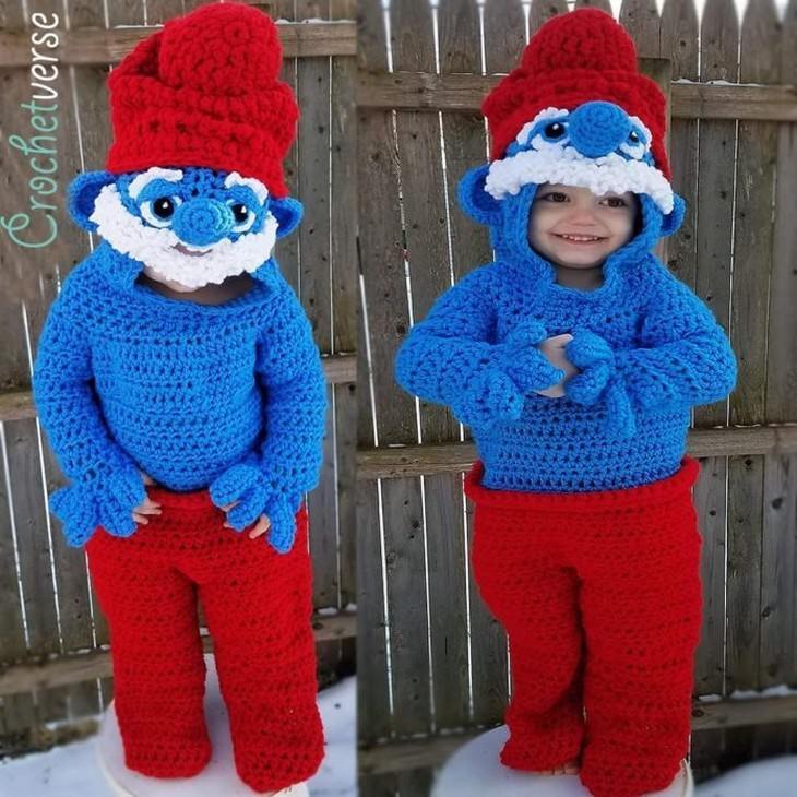 crochet Halloween Costumes for Kids Stephanie Pokorny smurf