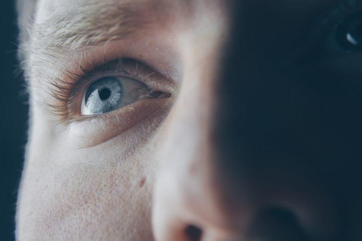 Eye Exam Predicts Future Cardiovascular Problems blue eyes closeup