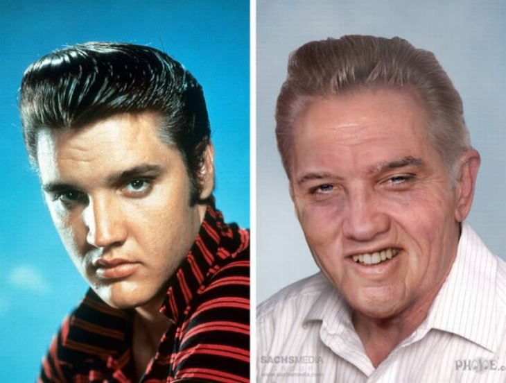 aged celebrities that passed away Elvis Presley