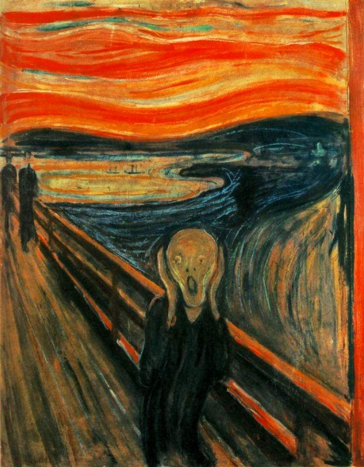 fun facts about famous artworks  'The Scream' (1893) by Edvard Munch