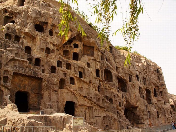 ancient ruins Longmen Grottoes, China