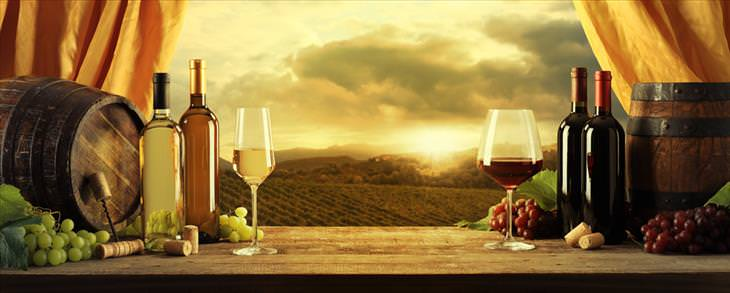 Wine tips: beautiful view with wine
