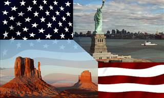 USA Quiz: American flag and landscapes