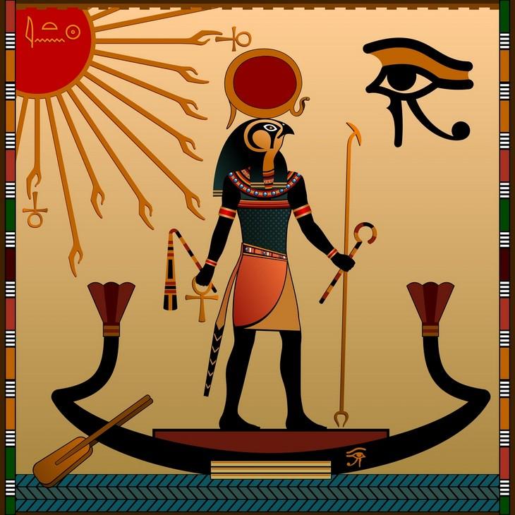 Egyptian gods Ra