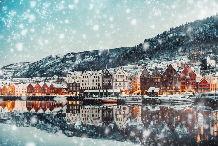 winter landscapes collection Bruges, Belgium
