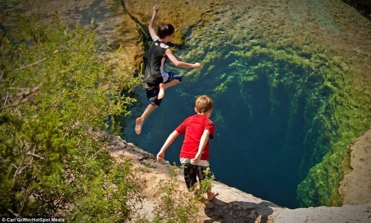 natural optical illusions Jacob's Well