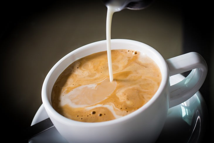 surprising food facts Coffee Creamer being added to coffee