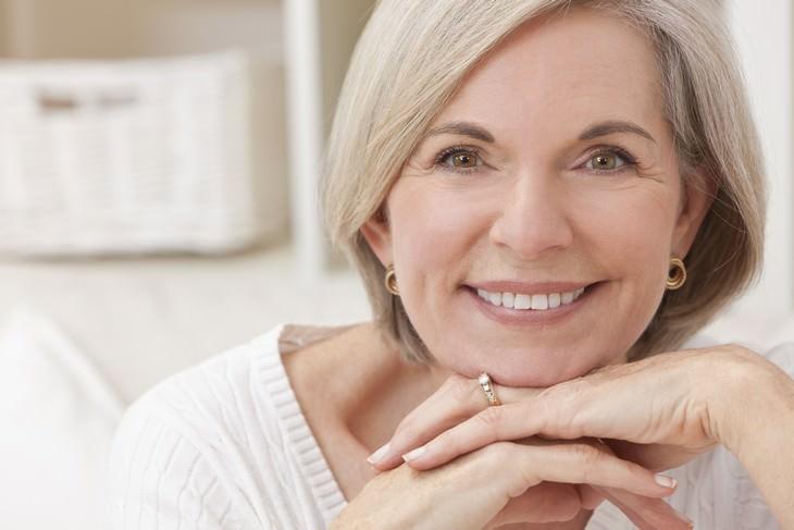 rose water woman smiling