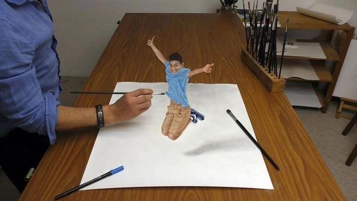 3D art by Stefan Pabst boy jumping up