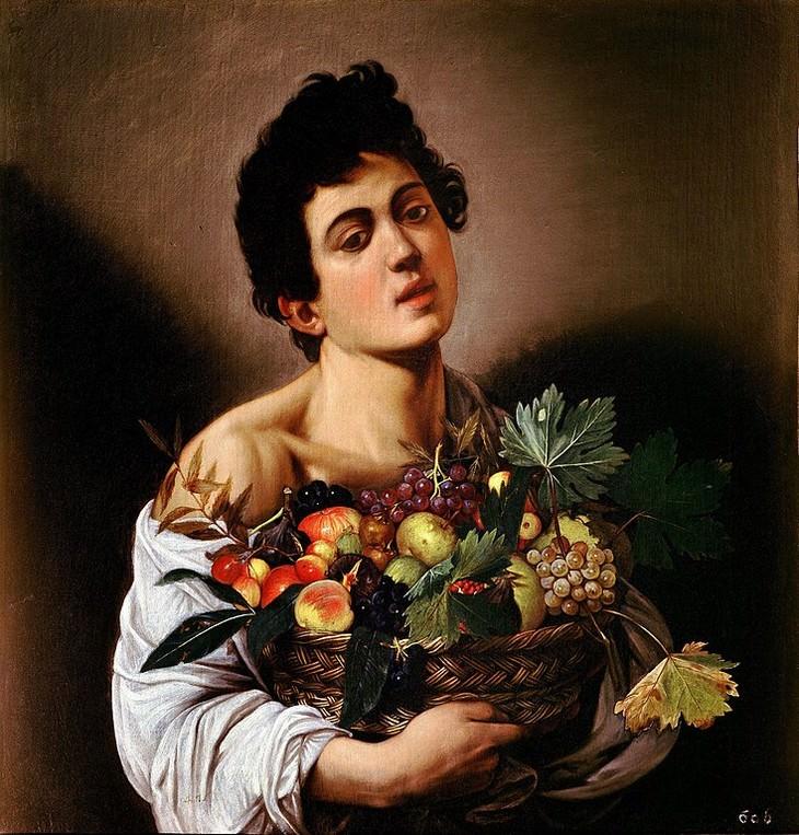 Obras De Arte De Caravaggio Niño con una canasta de frutas (c.1593)